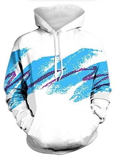 men women 3d printed hoodie 80s clothing