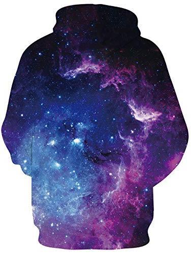 Uideazone Men Women Printed Space Jacket Hoodie