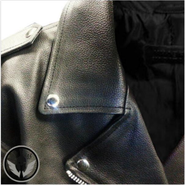 Mens American Motorcycle Leather Biker Jacket