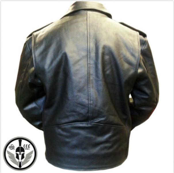 Mens American Leather Motorcycle Leather Biker