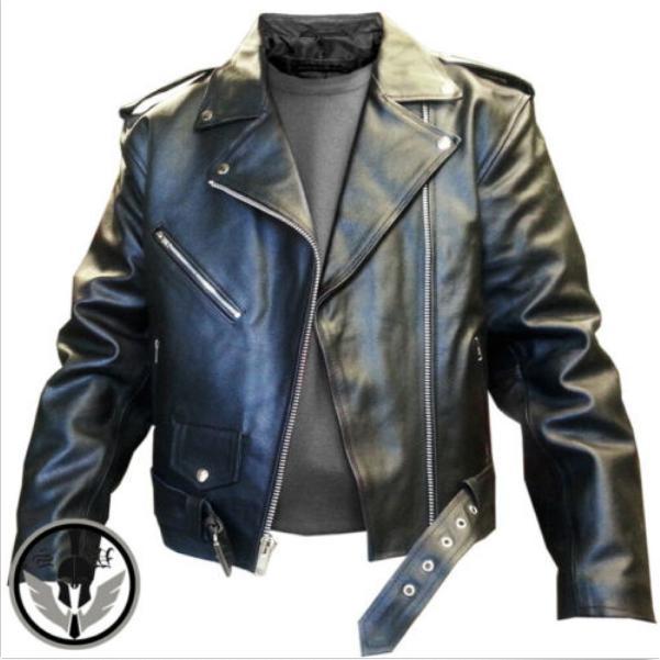Mens Leather Motorcycle Brando Perfecto Biker