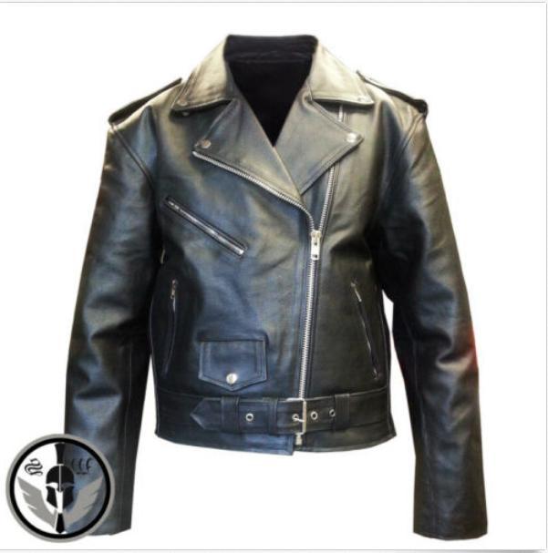 mens american genuine leather motorcycle brando perfecto