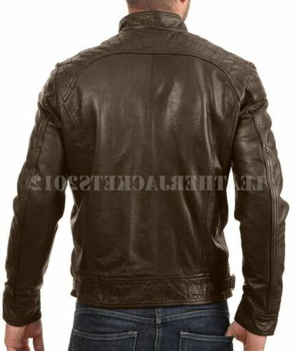 Mens Black Leather Genuine Sheep Leather Style ST-82