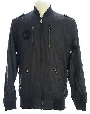 mens black the revolution bomber jacket am83