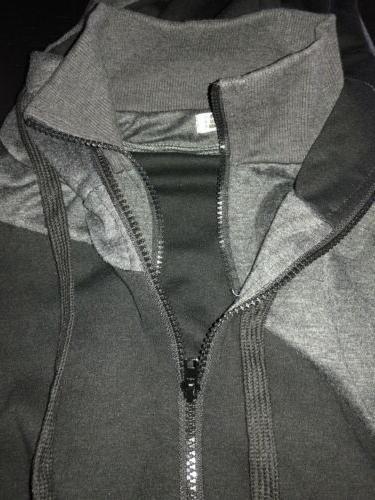 H2H FIT JACKET ZIPPER POCKETS BLACK/GRAY SMALL