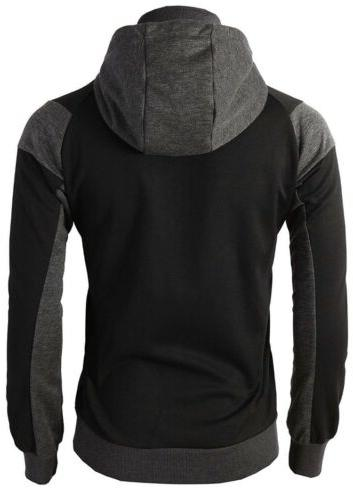 H2H MENS CASUAL SLIM FIT HOODIE JACKET DUAL ZIPPER WITH SMALL
