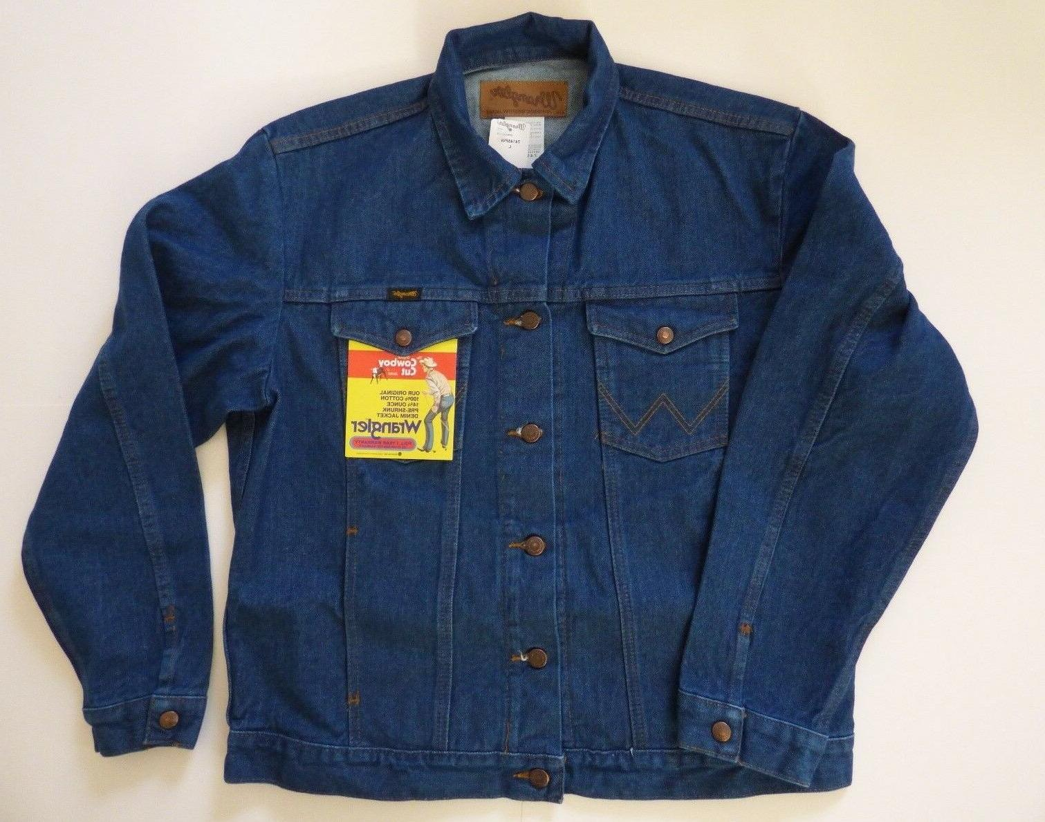Mens Wrangler Cowboy Cut Unlined Denim Jacket - Inside Pocke
