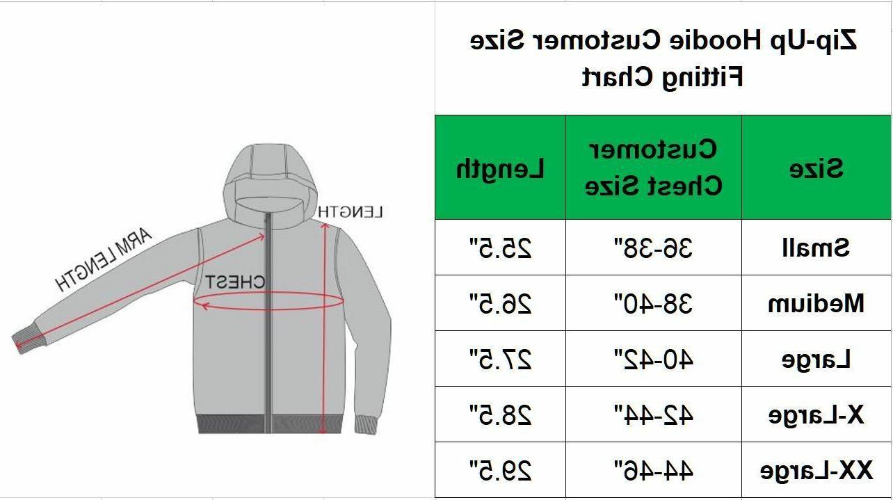 Mens Fleece Hoodie Thermal Jacket Sweatshirt Zip