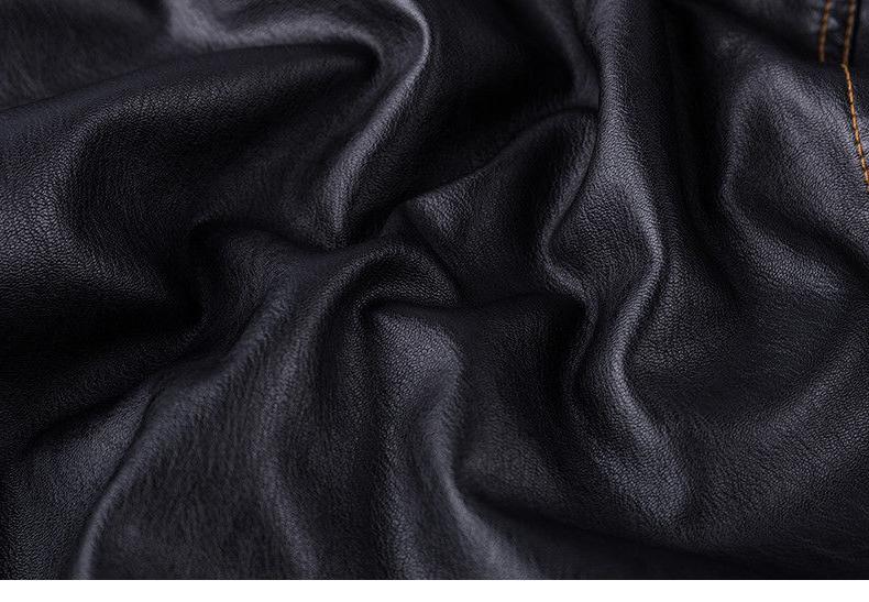 TACVASEN Fleece PU Jacket Motorcycle Coats Jackets