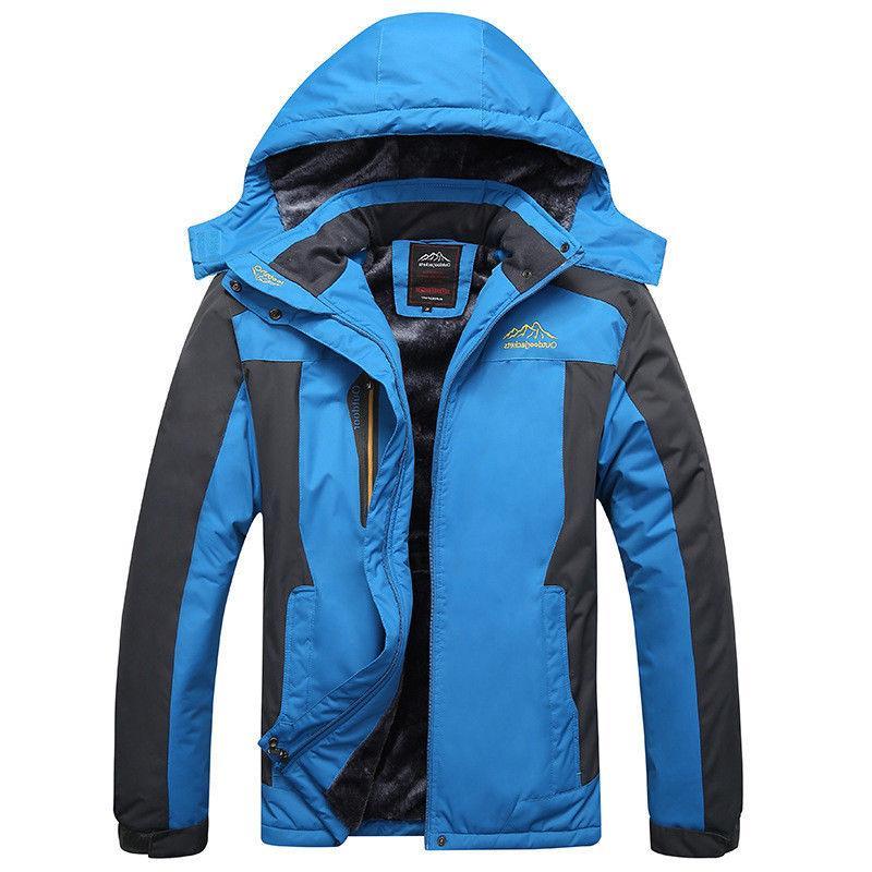 CRYSULLY Mens Fleece Jackets Parka Coats