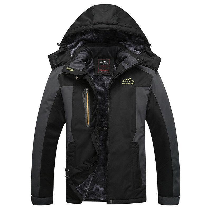 CRYSULLY Mens Jackets Snowboard Parka Hooded