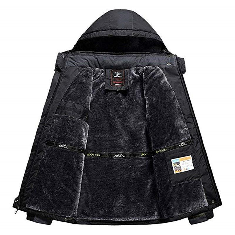 CRYSULLY Mens Winter Jackets Parka Hooded