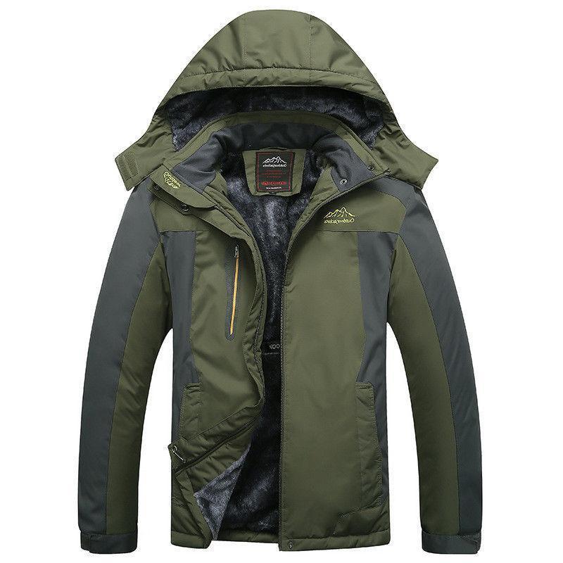 mens fleece winter jackets snowboard outwear sports