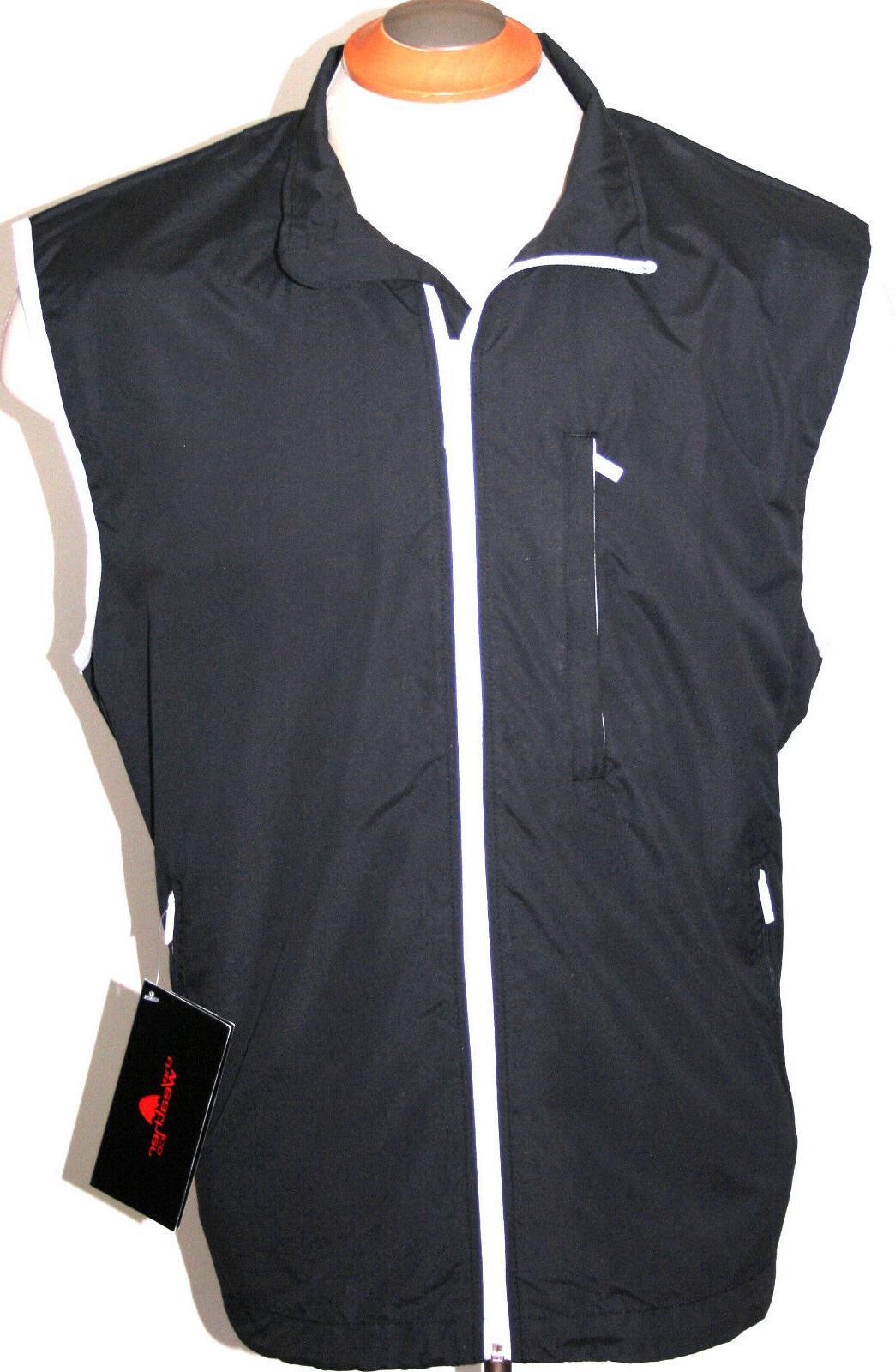 mens golf vest waterproof rain jacket black