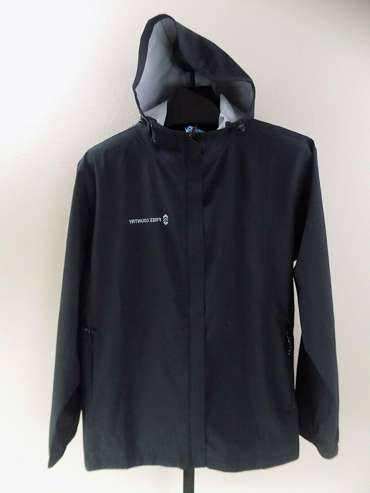 Mens COUNTRY Lite hooded Rain Jacket Windbreaker L XL