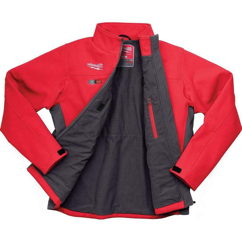 MILWAUKEE Mens M12 Cordless Heated Jacket Large Red