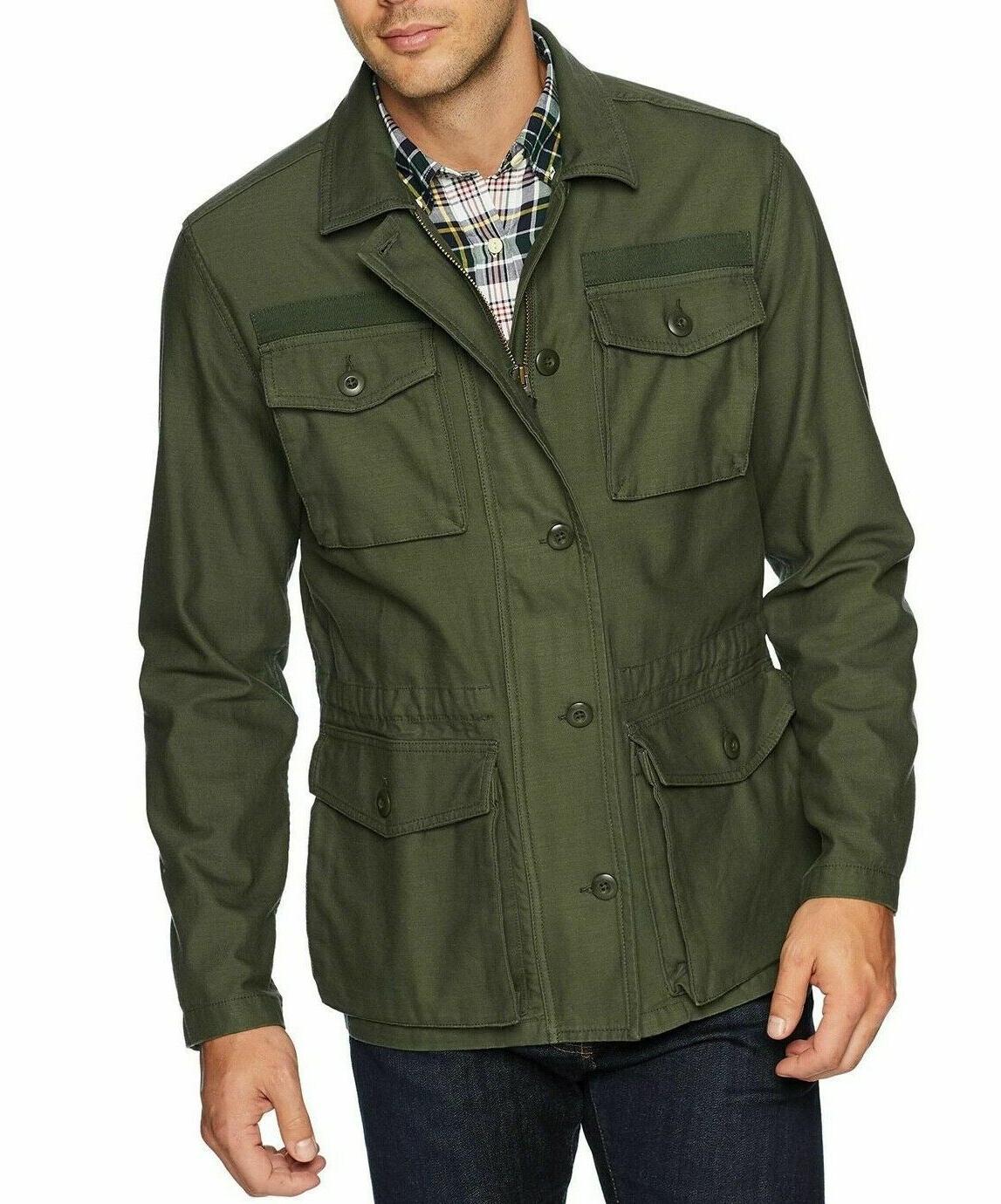 mens military jacket 4 pocket deep depth