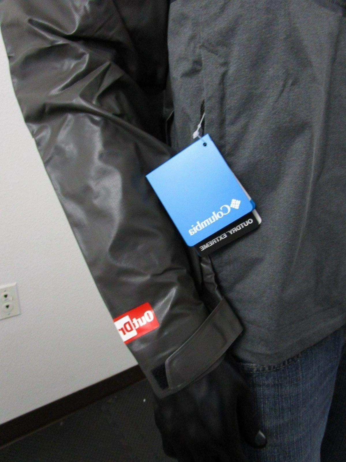 Mens Hooded Hybrid Jacket NWT Black