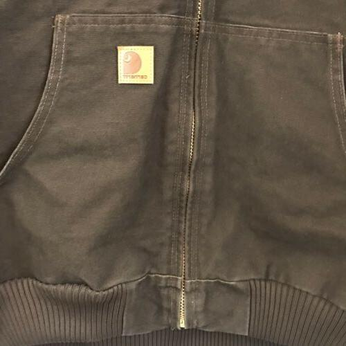 Carhartt Lined Sandstone Jacket J130 Dark Brown