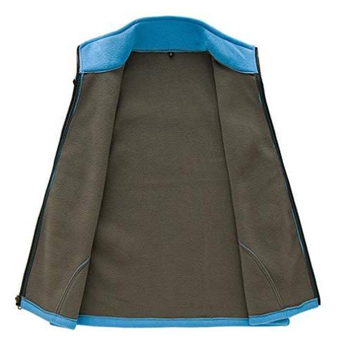 EBRICKON Soft Lightweight Sleeveless Fleece Vest Zipper