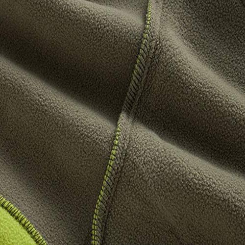 EBRICKON Mens Sleeveless Fleece Vest Front Zipper Coat Pockets