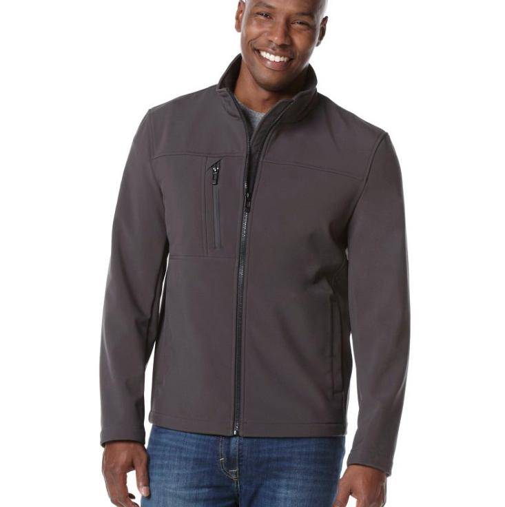 mens soft shell jacket black size s