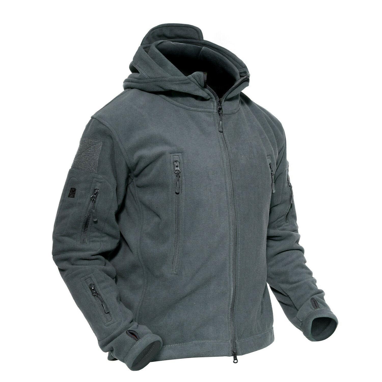 TACVASEN Zip Jacket Hoodie Police