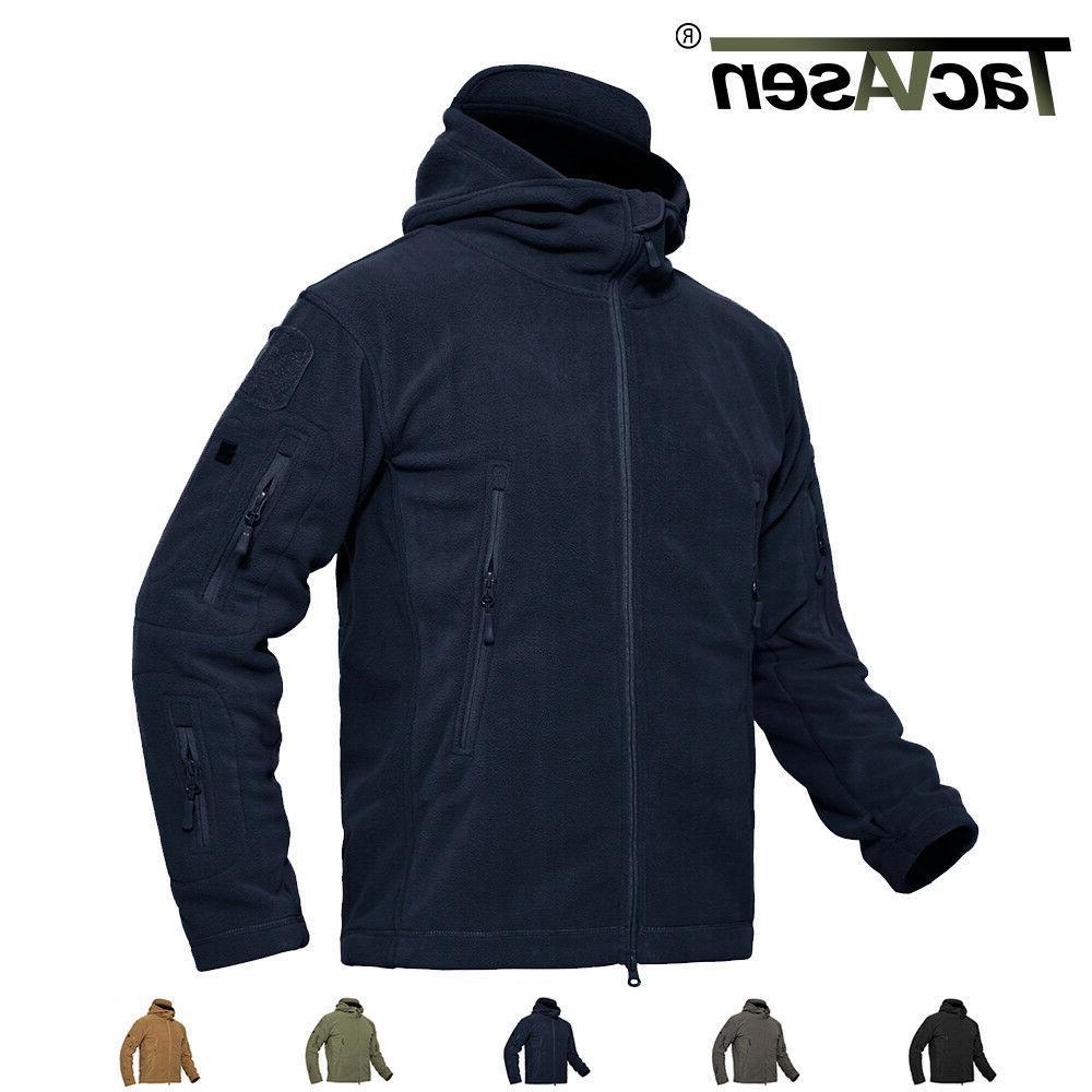 mens tactical recon zip fleece jackets airsoft