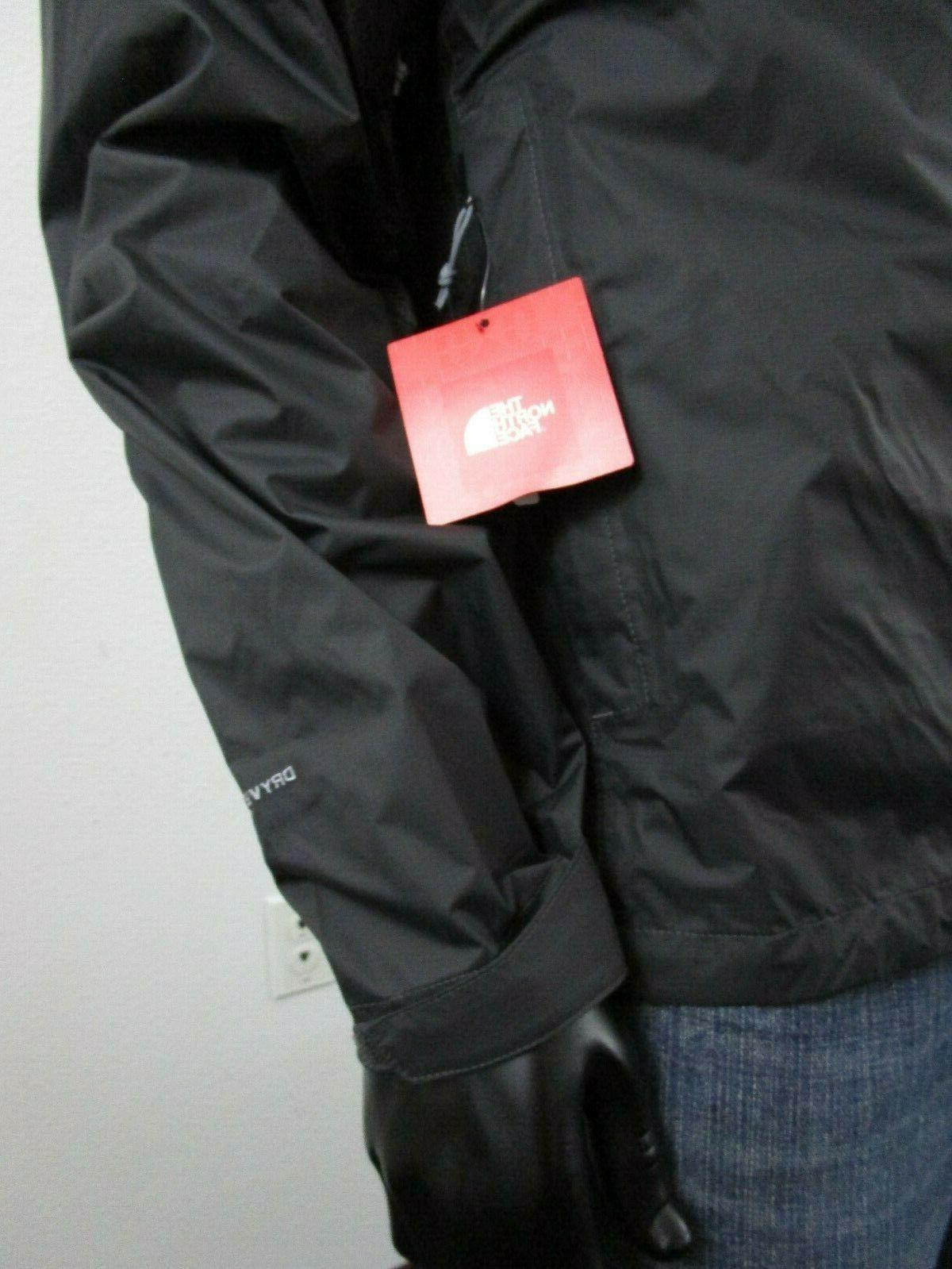 Mens Face Venture Dryvent Hooded Rain Jacket Asphalt