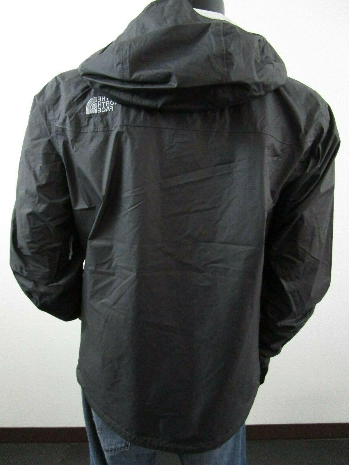 Mens The Face Hooded Rain Jacket Asphalt