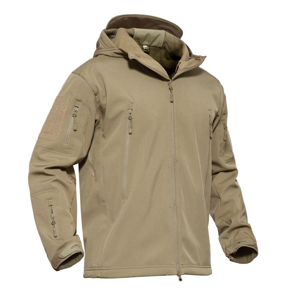 Mens Waterproof Military Tactical Coat Fleece Parka