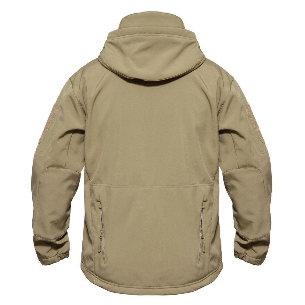 Mens Jackets Military Tactical Jacket Thermal Coat Fleece