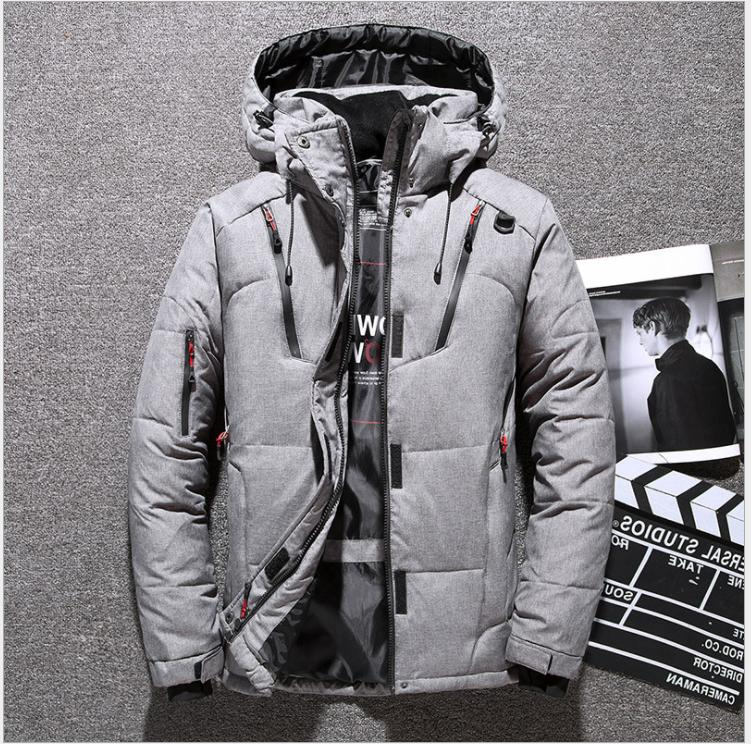 Mens Warm Down Jacket Snow Thick Hooded Puffer Coat