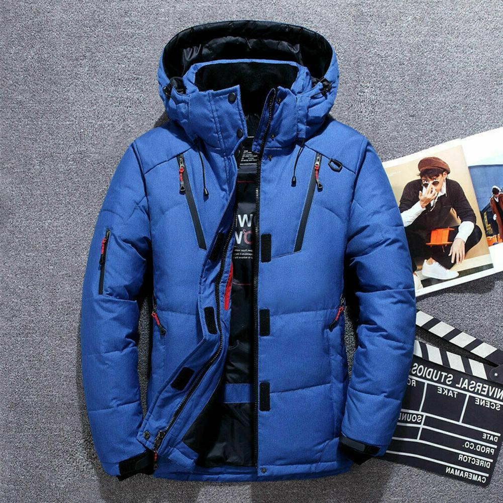 Mens Down Ski Snow Coat Parka