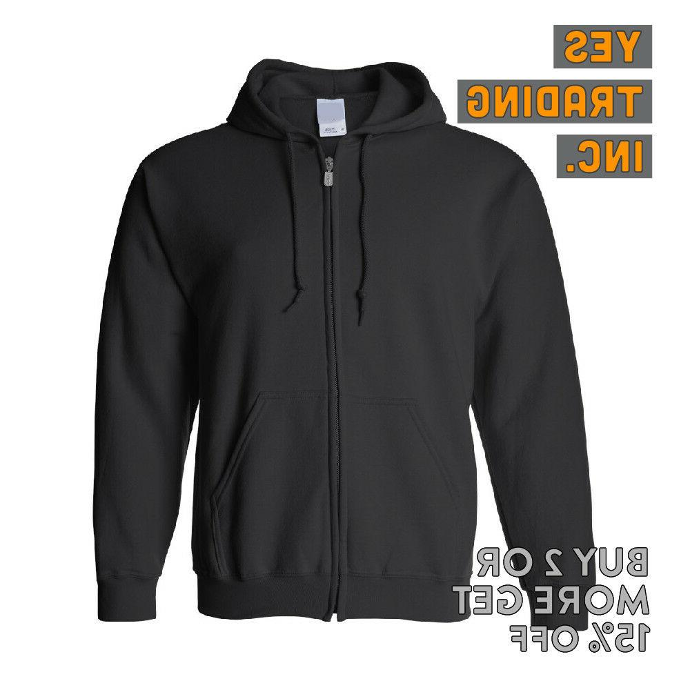 MENS WOMENS FULL HOODIE HOODED ZIP JACKET ACTIVE