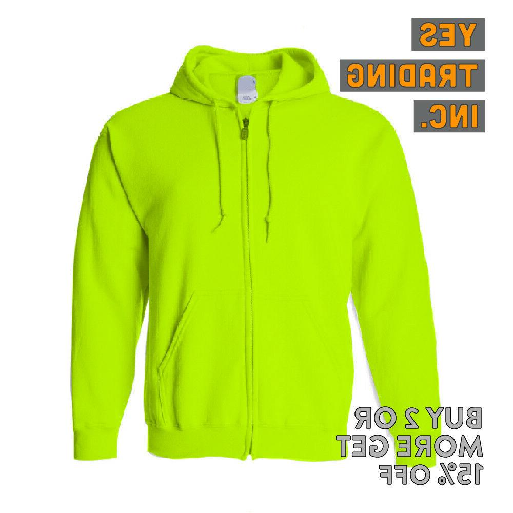 MENS FULL HOODIE HOODED ZIP ACTIVE
