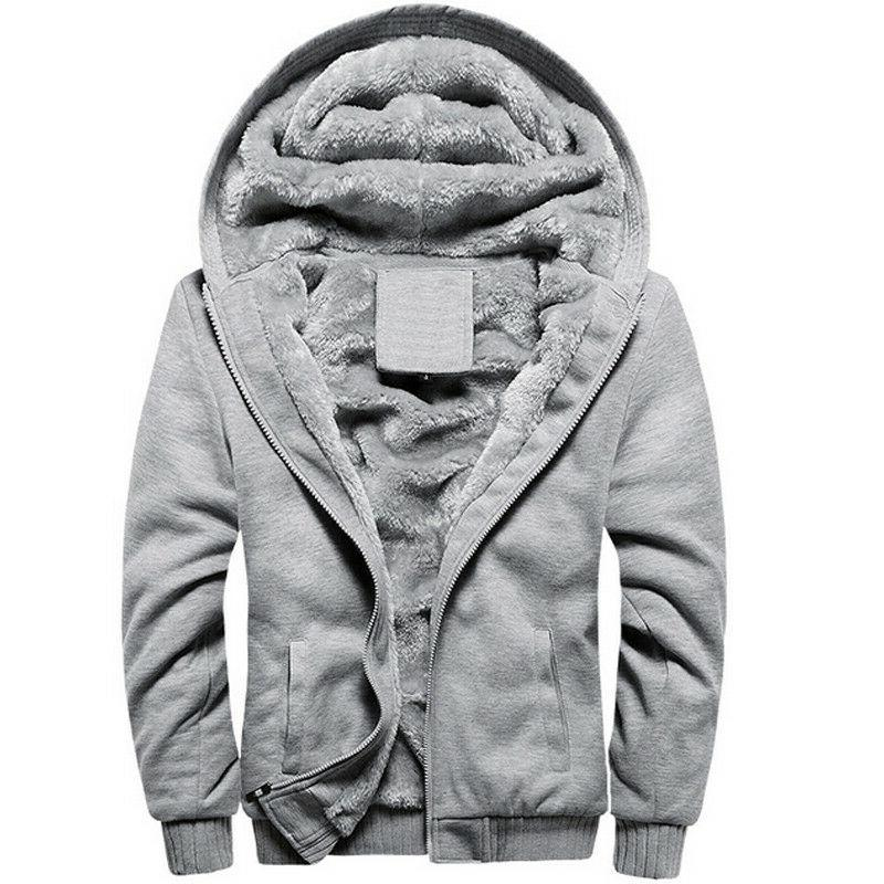 Mens Up Hoody Fleece Coat Outwear