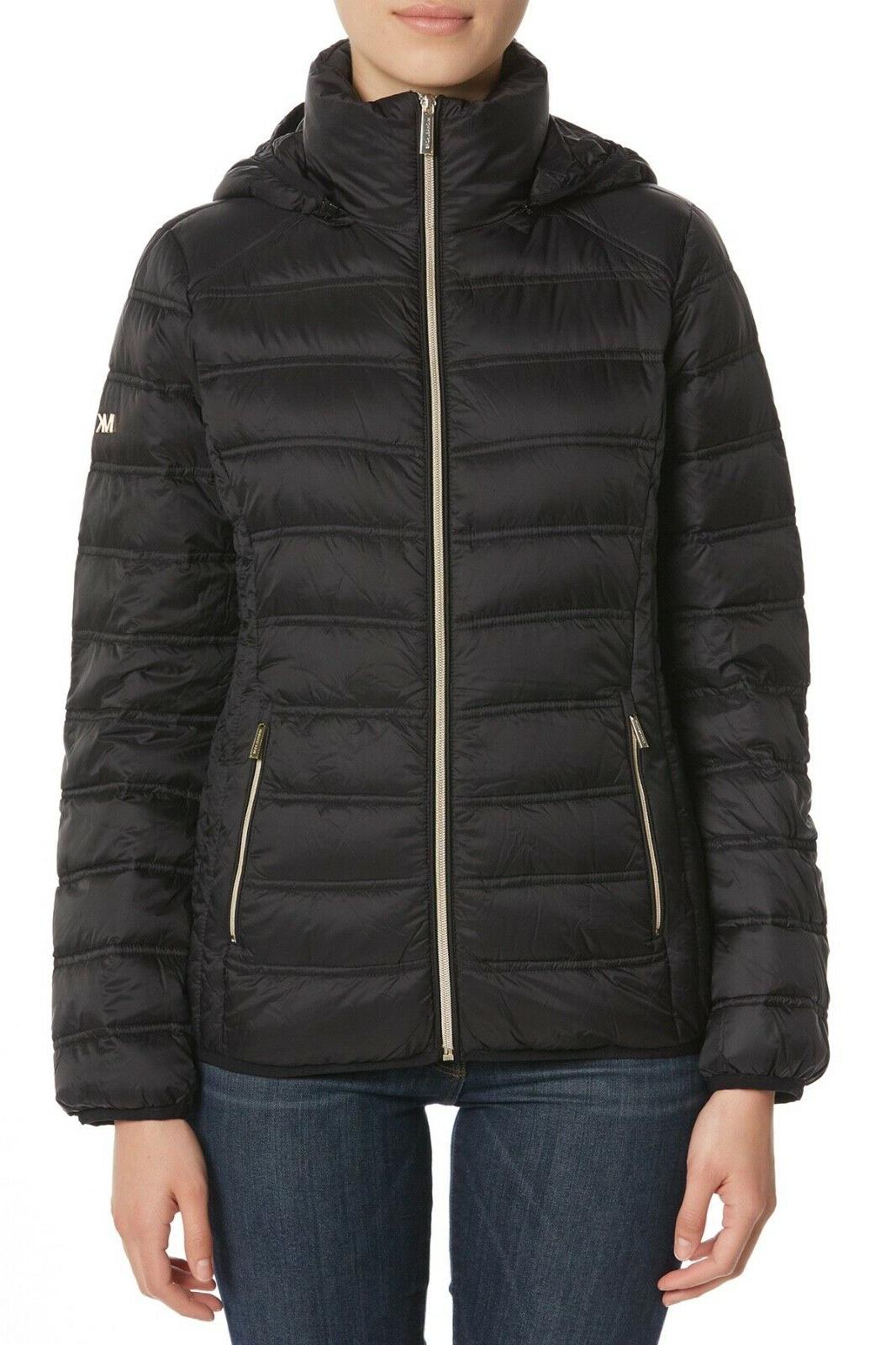 MICHAEL Michael Packable Quilted Puffer Jacket Black