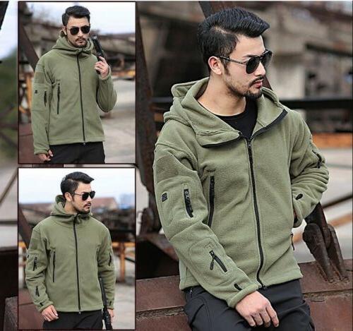 Military Man Fleece Softshell Jacket Polartec A hoodie, Velvet Jacket