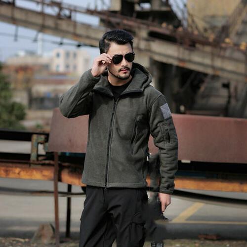 Military Man Fleece Softshell A hoodie,