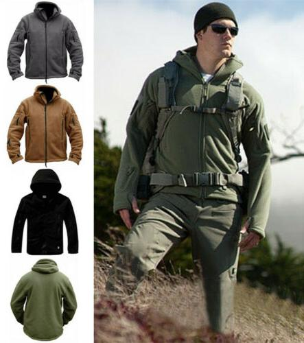 military man fleece tactical softshell jacket polartec