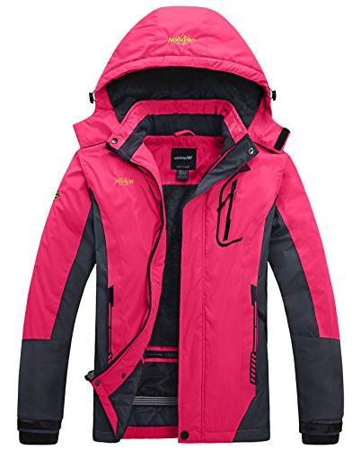 waterproof mountain jacket fleece ski