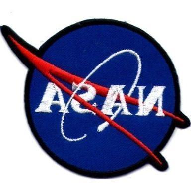 nasa space blue shuttle appliques