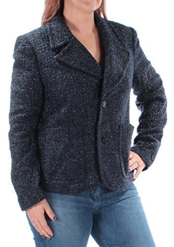 MICHAEL KORS $195 Womens 1263 Navy Wear To Work Jacket 9 B+B