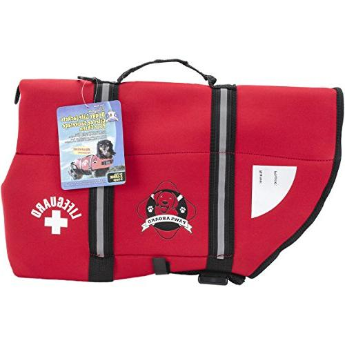 neoprene doggy life jacket red