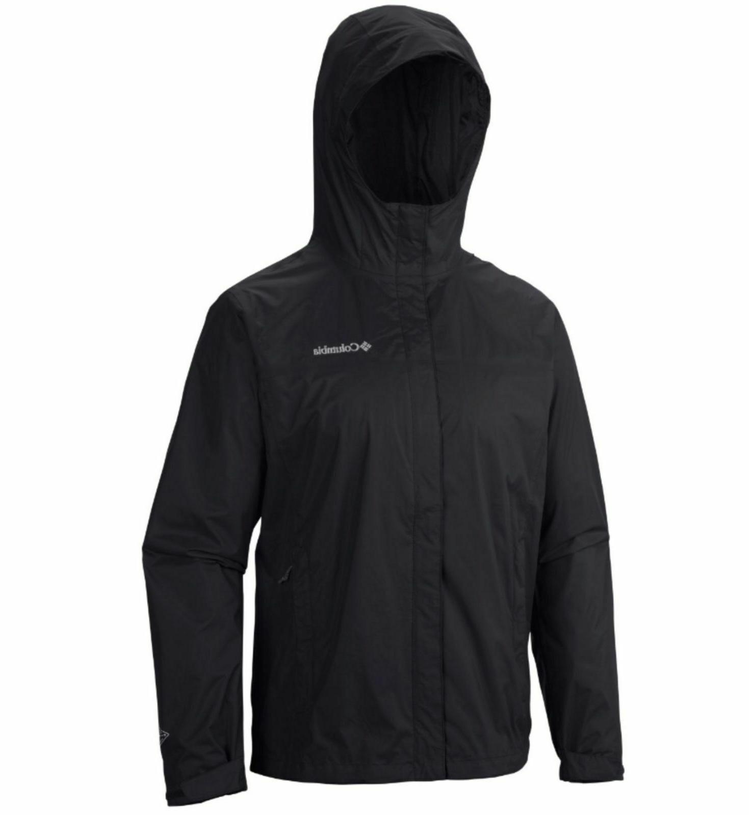 New $90 mens Timber Pointe waterproof hooded rain jacket Tall