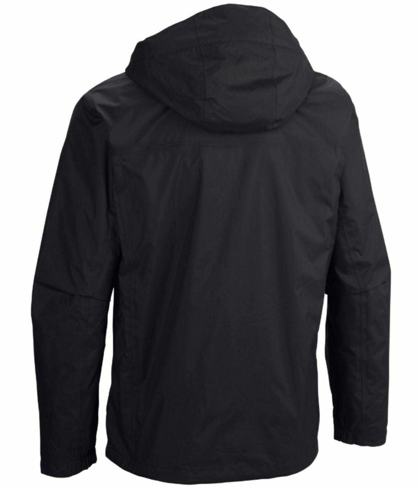 New Timber Pointe waterproof hooded rain Black Tall