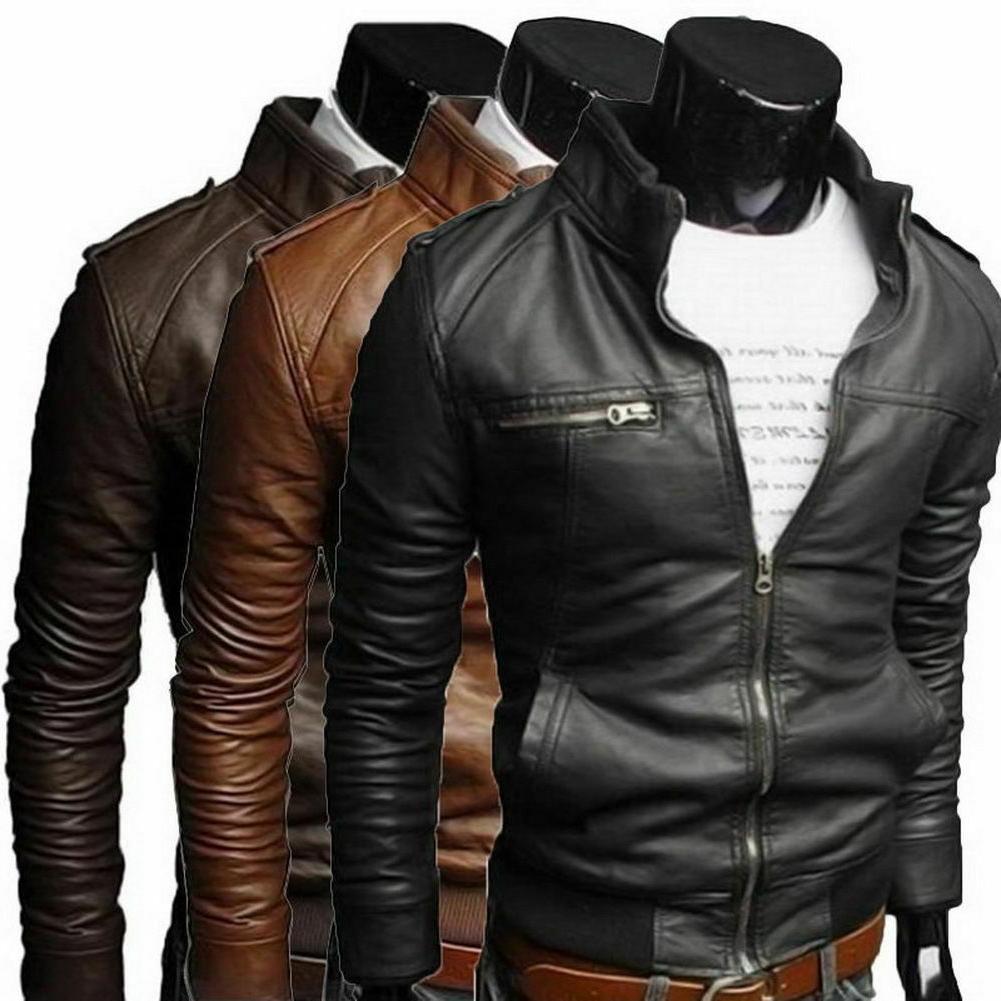 New Men's Collar Slim Jacket Coat