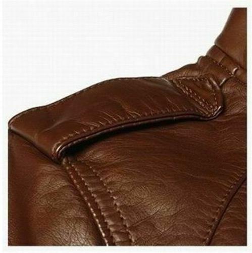 New Men's Fashion Collar Slim Motorcycle Jacket Outwear