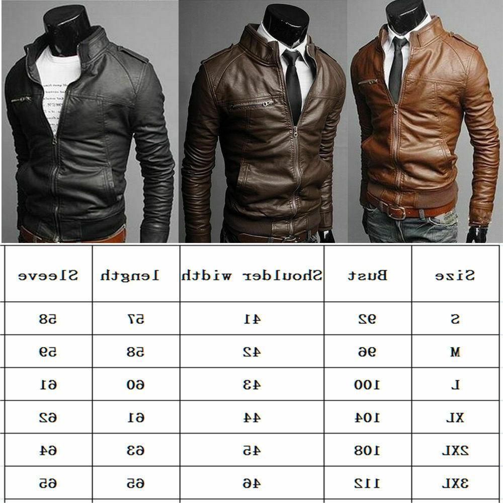 New Men's Fashion Jackets Collar Motorcycle Jacket